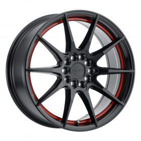 SPEEDSTER GLOSS BLACK W/RED STRIPE