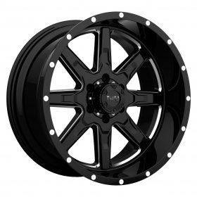 T-15 GLOSS BLACK W/MILLED SPOKES