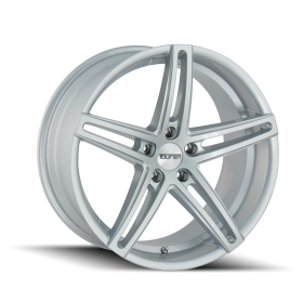 TR73 GLOSS SILVER/MILLED SPOKES
