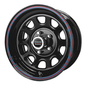 AR767 GLOSS BLACK STEEL WITH RED AND BLUE STRIPE