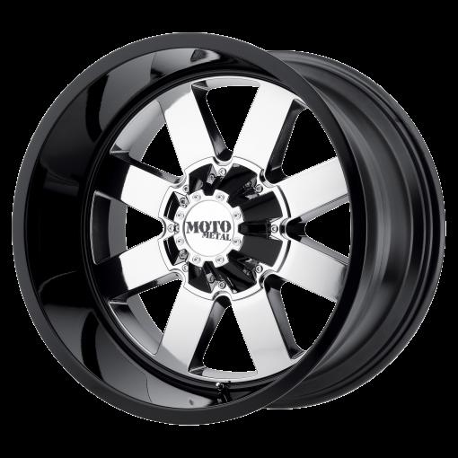 Moto Metal Rims MO962 PVD Center Gloss Black Lip