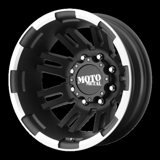 Moto Metal Rims MO963 MATTE BLACK MACHINED - REAR