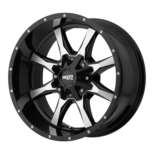 Moto Metal Rims MO970 GLOSS BLACK MACHINED FACE