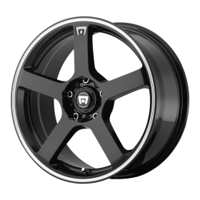 MR116 GLOSS BLACK MACHINED FLANGE