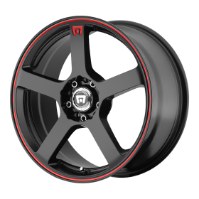 MR116 MATTE BLACK RED RACING STRIPE
