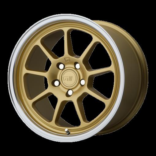 Motegi Rims MR135 Gold Center Machined Lip