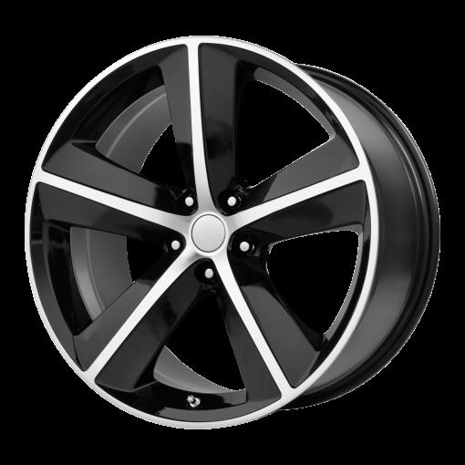OE Creations Rims PR123 GLOSS BLACK/MACHINED SPOKES AND LIP