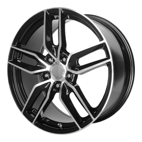 PR160 GLOSS BLACK WITH MACHINED SPOKES