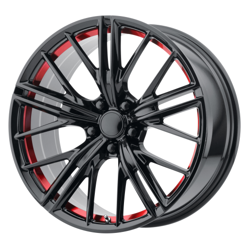 OE Creations Rims PR194 GLOSS BLACK RED MACHINED