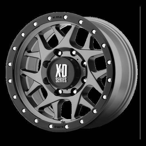 XD Series Rims XD127 BULLY MATTE GRAY BLACK RING