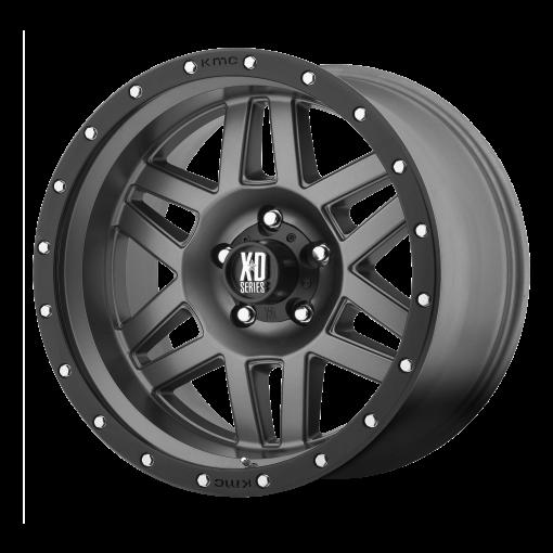XD Series Rims XD128 MACHETE MATTE GRAY BLACK RING