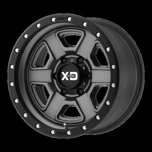 XD Series Rims XD133 FUSION OFF-ROAD SATIN GRAY WITH SATIN BLACK LIP