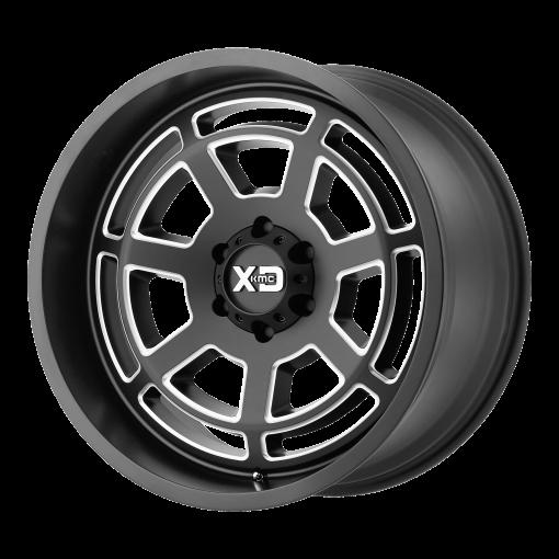 XD Series Rims XD824 BONES SATIN BLACK MILLED