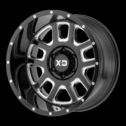 XD Series Rims XD828 DELTA GLOSS BLACK MILLED