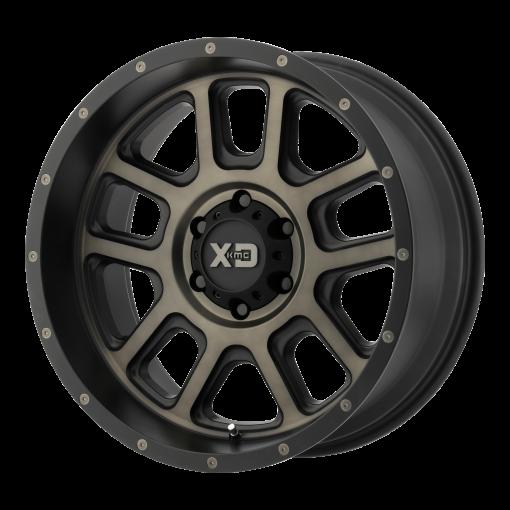 XD Series Rims XD828 DELTA Matte Black w/ Dark Tint Clear