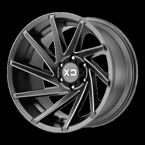XD Series Rims XD834 CYCLONE SATIN GRAY MILLED