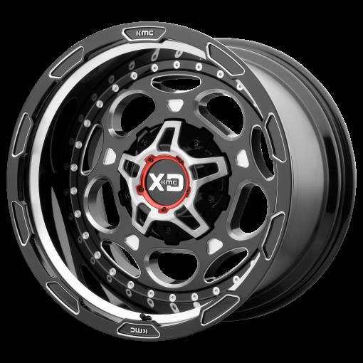 XD Series Rims XD837 DEMODOG GLOSS BLACK MILLED