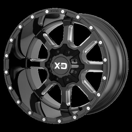 XD Series Rims XD838 MAMMOTH BLACK MILLED