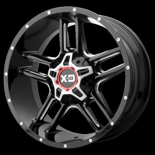 XD Series Rims XD839 CLAMP GLOSS BLACK MILLED
