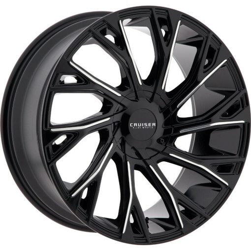 Cruiser Alloy Rims 925MB Cutter GLOSS BLACK MACHINED