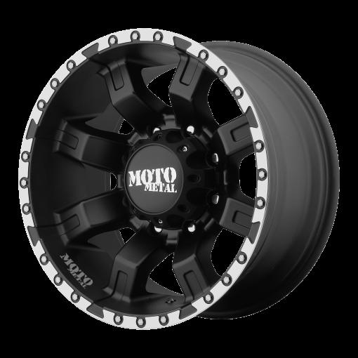 Moto Metal Rims MO968 Satin Black With Machined Flange