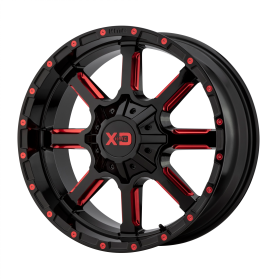 XD838 MAMMOTH GLOSS BLACK MILLED WITH RED TINT CLEAR COAT