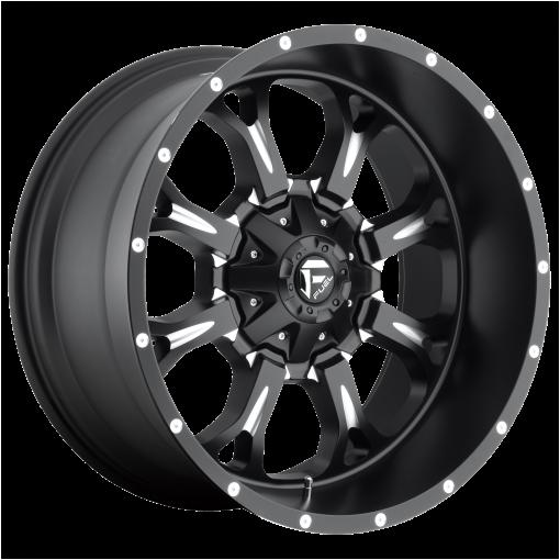 Fuel Rims D517 KRANK MATTE BLACK MILLED