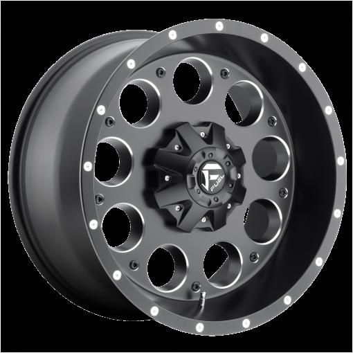 Fuel Rims D525 REVOLVER MATTE BLACK MILLED