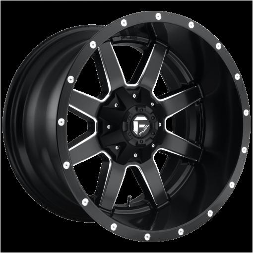 Fuel Rims D538 MAVERICK MATTE BLACK MILLED