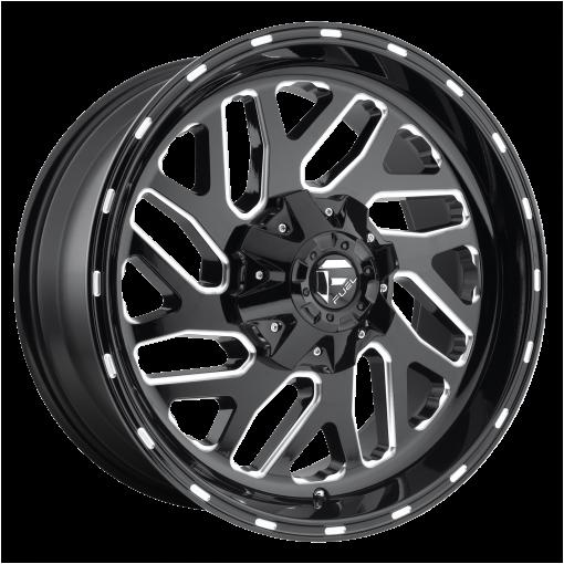 Fuel Rims D581 TRITON GLOSS BLACK MILLED