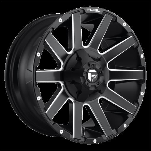 Fuel Rims D616 CONTRA MATTE BLACK MILLED