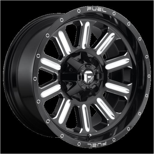 Fuel Rims D620 HARDLINE GLOSS BLACK MILLED
