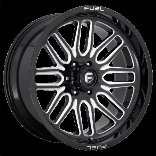 Fuel Rims D662 IGNITE GLOSS BLACK MILLED