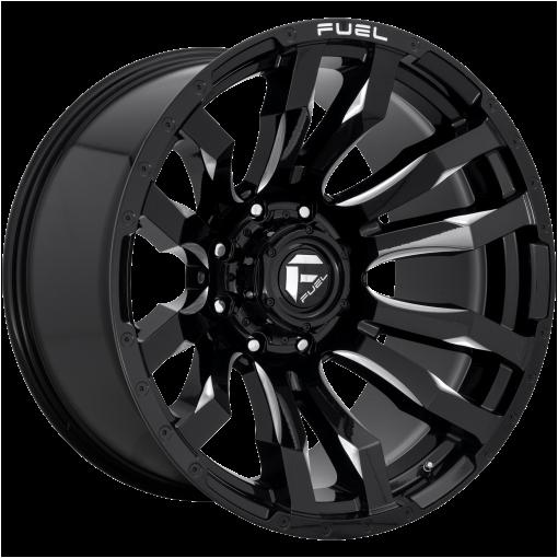 Fuel Rims D673 BLITZ GLOSS BLACK MILLED