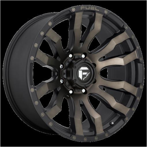 Fuel Rims D674 BLITZ MATTE BLACK DOUBLE DARK TINT