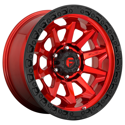 Fuel Rims D695 COVERT CANDY RED BLACK BEAD RING