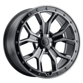 MORLAND GLOSS METALLIC BLACK W/BRUSHED TINTED FACE AND BLACK BOLTS