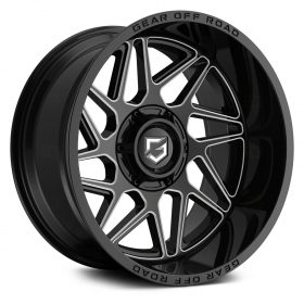 761BM RATIO GLOSS BLACK WITH MILLED SPOKE ACCENTS & LIP LOGO