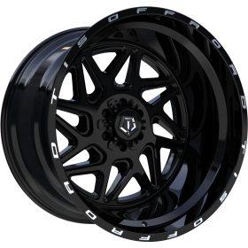 552B GLOSS BLACK W/ MILLED LIP LOGO