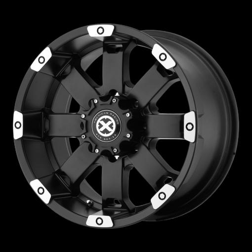 ATX Series Rims AX185 CRAWL MATTE BLACK MACHINED