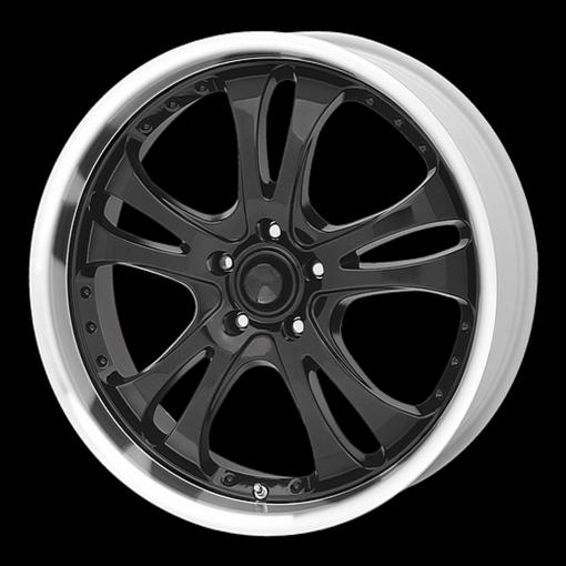 American Racing Rims AR393 CASINO Gloss Black With Diamond Cut Lip