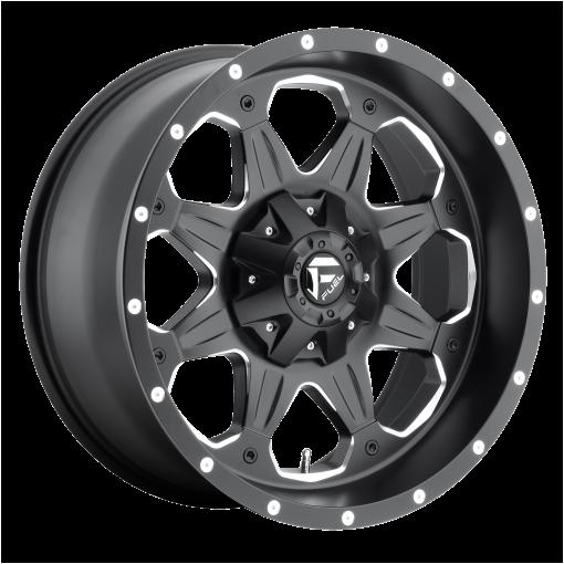 Fuel Rims D534 BOOST MATTE BLACK MILLED
