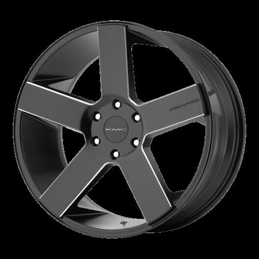 KMC Rims KM690 MC 5 Satin Black Black With Milled Spokes