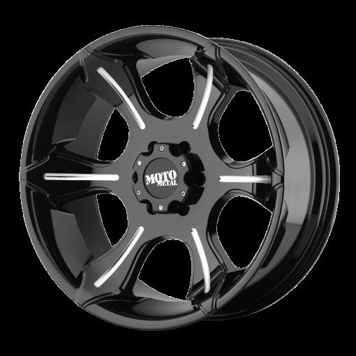 Moto Metal Rims MO965 GLOSS BLACK WITH MILLED SPOKES