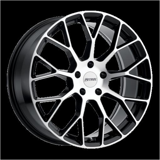 Petrol Rims P2B GLOSS BLACK W/MACHINED FACE
