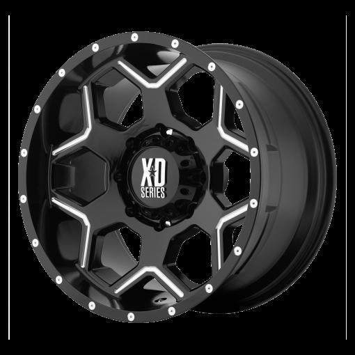 XD Series Rims XD812 CRUX GLOSS BLACK MILLED