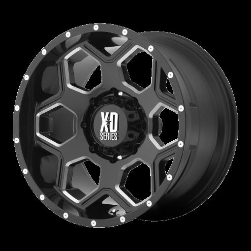 XD Series Rims XD813 BATALLION GLOSS BLACK MILLED